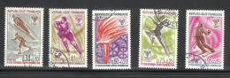 FRANCE, 1968, Winter Olympics, Grenoble,   5 V Complete Set, Skiing, Ice Skating, Torch, Flame,  FINE USED - Inverno1968: Grenoble