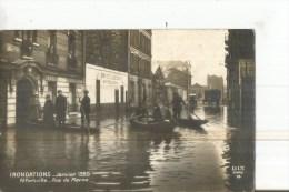 ALFORTVILLE JANVIER 1920 RUE DE LA MARNE BARQUES PERSONNAGES VINS COLETTA - Alfortville