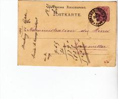 ENTIER POSTAL STRASSBURG STRASBOURG  SOCIETE TRANSPORT ET ENTREPOT 1886 - Marcophilie (Lettres)