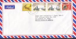 Zimbabwe Airmail AVONSALE 1994 Cover Brief United States $1 Mbira Instrument 45 C. Transport Motorrad 5 C. Greater Kudu - Zimbabwe (1980-...)