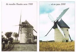 Migé : Le Moulin En 1900 Et En 2000 - Other Municipalities