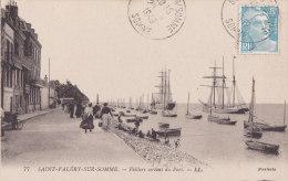 Ax - Cpa Saint VALERY Sur SOMME - Voiliers Sortant Du Port - Saint Valery Sur Somme