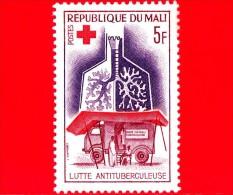 Nuovo - MALI - 1965 - Croce Rossa - Cura Della Salute - Tubercolosi - TBC - Unità Mobile A Raggi X E Polmoni - 5 - Mali (1959-...)