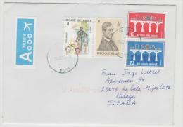 B352 / Buntfrankatur 2016 Nach Spanien Mit 4 Marken - Briefe U. Dokumente