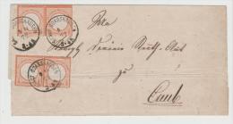 BRS223 / DEUTSCHES REICH -  Mi.Nr. 18 (2 Paare) Auf Briefhülle 1872, St. Goarshausen Nach Caub (Seltene Frankatur) - Deutschland