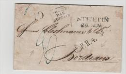 Pre267 /PREUSSEN -   Stettin 1831 Nach Frankreich. SEUCHENBRIEF Geschlitzt Und Gereinigt (desinfiziert) - Duitsland