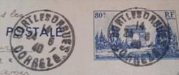 Cachet Bort Les Orgues Correze 1940 - Postmark Collection (Covers)