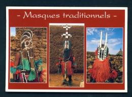 CAMEROON  -  Traditional Masks  Unused Postcard - Cameroon