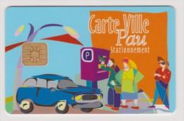 Télécarte Abonné Stationnement Public Ville De Pau Fins Années 90 Débuts 2000 En Francs - Other Collections