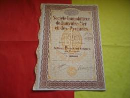 IMMOBILIERE DE BANYULS SUR MER ET DES PYRENEES (1929) - Zonder Classificatie