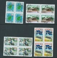 Nauru 1974 UPU Anniversary Set Of 4 In VFU Blocks Of 4 - Nauru