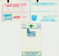 Lot De 3 Tickets De Parkings Mt De Marsan (40, Tarbes (65) + Aéroport Bordeaux (33) Années 90 à Débuts 2000 - Tickets - Vouchers