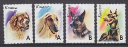 Kosovo / Kosova Dogs 4v ** Mnh (26732C) Private Issue - Kosovo