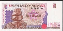 ZIMBABWE  P5  5 DOLLARS    1997     UNC. - Zimbabwe