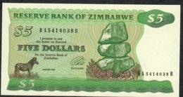 ZIMBABWE  P2e  5  DOLLARS   1994 TYPE B * RARE WATERMARK * UNC. - Zimbabwe