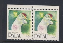 PALAU 1991 OISEAUX  PAIRES DU CARNET  YVERT N°  NEUF MNH** - Palau