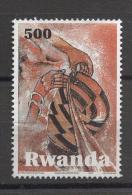 Rwanda 2010, 500 Francs, Vfu. High Cv But Damaged Stamp - 1990-99: Used