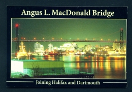 CANADA  -  Halifax  Angus L. MacDonald Bridge  Unused Postcard - Halifax