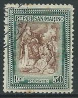1947 SAN MARINO USATO ALBERONIANA 50 LIRE - M14-9 - Gebruikt
