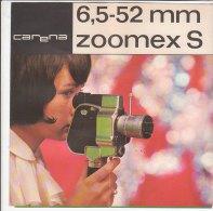 B1525 - Brochure CINEPRESA CARENA ZOOMEX 6,5-52 Mm  Anni '60 - Proyectores De Cine