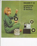 B1526 - Brochure PROIETTORE BAUER T12, T12 S E T12 R PELLICOLE 8 Mm  Anni '60 - Proyectores De Cine
