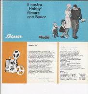 B1527 - Brochure PROIETTORI CINEPRESE BAUER Anni '60 - Film Projectors