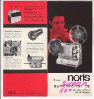 B1528 - Brochure PROIETTORI SUPER 8 NORIS SYNCHRONER TS 8 Mm Anni '60 - Proiettori Cinematografiche