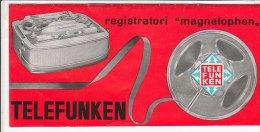 B1529 - Brochure LISTINO ILLUSTRATO - REGISTRATORI MAGNETOPHON TELEFUNKEN Anni '60 - Apparatus