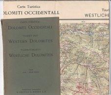B1541 - CARTINA - MAP G.Freytag & Berndt - DOLOMITI OCCIDENTALI - Carte Topografiche