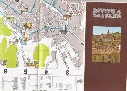 B1552 - MAP - CARTINA - CUNEO - INVITO A SALUZZO Calosso Mobili D'arte Editore Anni '70 - Carte Topografiche