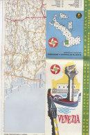 B1561 - MAP - CARTINA VENEZIA - CARTA STRADALE BP Ed. IGDA 1962 - Carte Topografiche