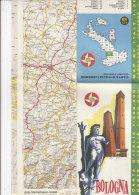 B1562 - MAP - CARTINA BOLOGNA - CARTA STRADALE BP Ed. IGDA 1962 - Carte Topografiche
