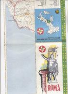 B1563 - MAP - CARTINA ROMA - CARTA STRADALE BP Ed. IGDA 1962 - Carte Topografiche