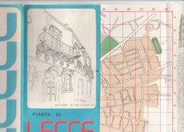 B1574 - MAP - PIANTA DI LECCE/STRADARIO - IL BAROCCO...LA SUA STORIA - Carte Topografiche