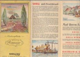 B1579 - SHELL STRASSENKARTE N.7 N.8 GERMANIA - GERMANY - HANNOVER - LUNEBURGER HEIDE Anni '30 - Carte Topografiche