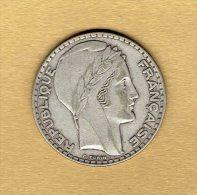 20 Francs Turin 1933 Rameaux Courts - L. 20 Francs