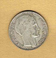 20 Francs Turin 1933 Rameaux Longs - L. 20 Francs