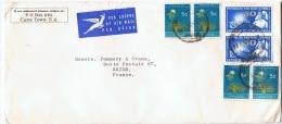 AF-L28 - AFRIQUE DU SUD N° 269-293 Sur Lettre Par Avion Pour Reims - Afrique Du Sud (1961-...)