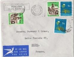 AF-L32 - AFRIQUE DU SUD N° 286A-287 Sur Lettre Par Avion Pour Reims - Afrique Du Sud (1961-...)