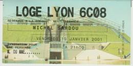 Billet - Ticket Concert Michel SARDOU à Paris Bercy POPB 19/01/2001 - Tickets - Vouchers