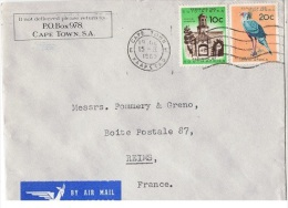 AF-L33 - AFRIQUE DU SUD N° 287-289 Sur Lettre Par Avion Pour Reims - Afrique Du Sud (1961-...)