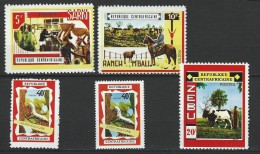 "Centrafrique YT 128 à 131 + 131a "" Opération Bokassa "" 1970 Neuf** - Central African Republic"
