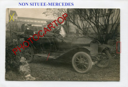 MERCEDES-AUTOMOBILE Militaire-NON SITUEE-CARTE PHOTO Allemande-Guerre-14-18-1 WK-Militaria- - War 1914-18