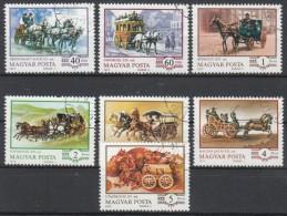 Ungarn 1977  MiNr. 3178/ 3184 A  O / Used  Kutschen - Postkoetsen