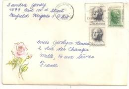 Lenveloppe Timbree De Cleveland 1966  Avec Une Illustration Une Rose - United States