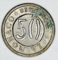 Monaco Jeton ~ 1920 Troué 50 Centimes # 2 - Monaco