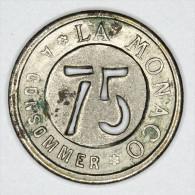 Monaco Jeton ~ 1920 Troué 75 Centimes # 1 - Monaco