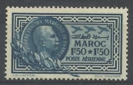 French Morocco, Marshal Lyautey, 1f.50+1f.50, 1935, MNH VF  Airmail - Morocco (1891-1956)