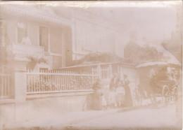 Photo 1899 ARROMANCHES-LES-BAINS - Attelage Dans Une Rue (A131) - Arromanches