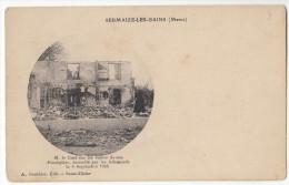 51 SERMAIZE Les BAINS  Le Curé Sur Les Ruines De Son Presbytère Incendié Le 6 Septembre 1914 - Sermaize-les-Bains